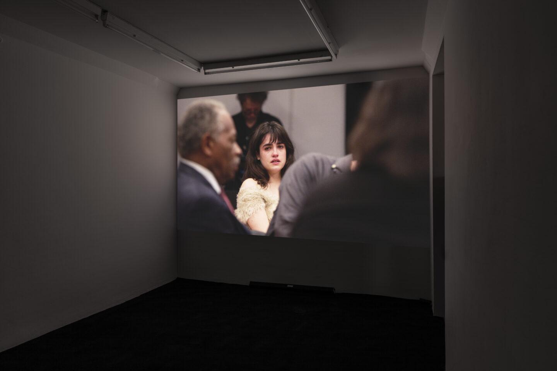 Exhibition View Groupshow «On Fire – Vulnerable Footage ; view on Leigh Ledare, The Task (2017)» at SALTS, Birsefelden, Basel, 2019 / Photo: Gunnar Meier / Courtesy: the artist, Basler Dokumentartage, SALTS
