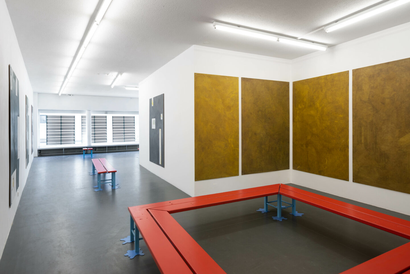 Exhibition View Timothée Calame and Alan Schmalz Soloshow «Affinities» at Weiss Falk, Basel, 2019 / Photo: Flavio Karrer / Courtesy: the artists and Weiss Falk