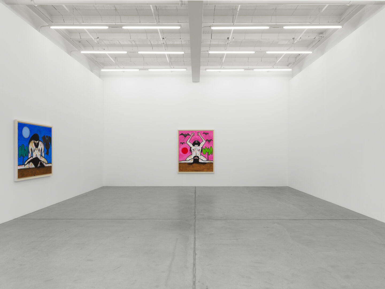 Exhibition View Carroll Dunham Soloshow «Recent Paintings» at Galerie Eva Presenhuber, Zurich, 2019 / Photo: Stefan Altenburger / © Carroll Dunham / Courtesy the artist and Galerie Eva Presenhuber, Zurich / New York