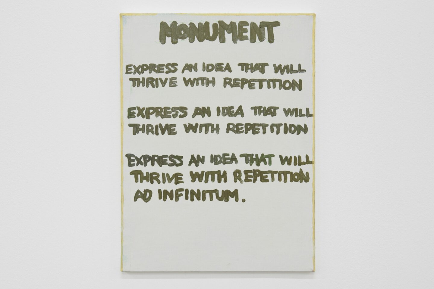 Exhibition View Gene Beery Retrospective «view on Monument, 1987» at Fri-Art Kunsthale, Fribourg / Photo: Guillaume Baeriswyl / Courtesy: the artist and LeWitt Collection, Chester, Conneticut, USA