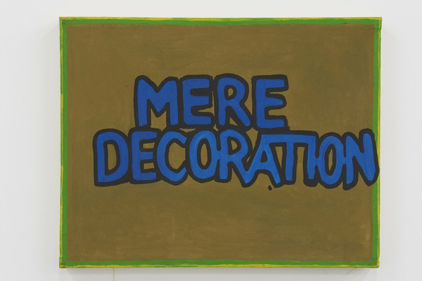 Exhibition View Gene Beery Retrospective «view on Mere Decoration, 1976» at Fri-Art Kunsthale, Fribourg / Photo: Guillaume Baeriswyl / Courtesy: the artist and Greenspon, New York