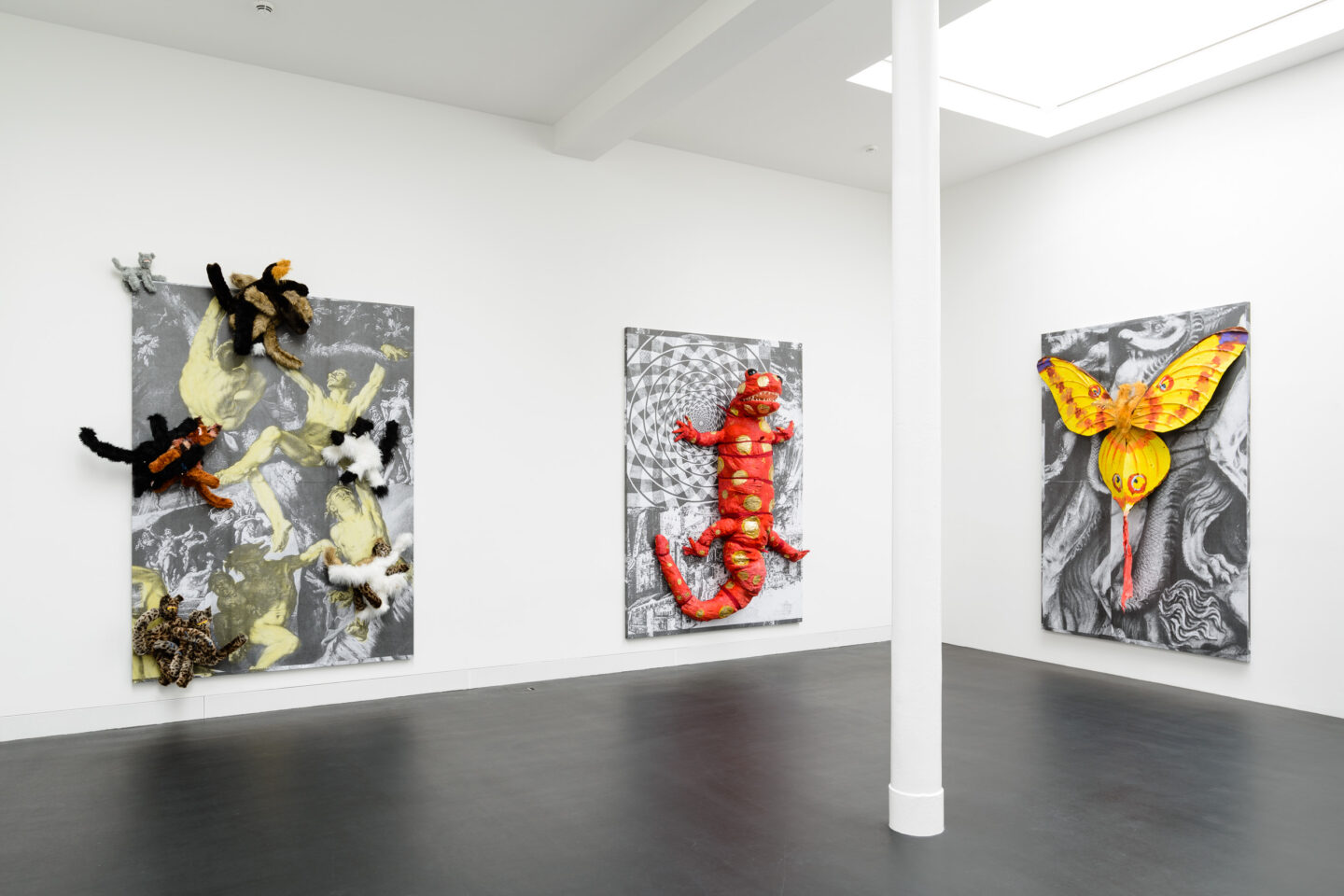Exhibition View Monster Chetwynd Soloshow «Either This Coat's Inhabited or I'm Inhibited» at Galerie Gregor Staiger / Courtesy: the artist and Galerie Gregor Staiger