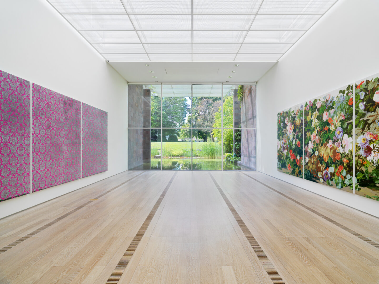 Exhibition View Rudolf Stingel Soloshow at Fondation Beyeler, Riehen, 2019 / Photo: Stefan Altenburger / © Rudolf Stingel / Courtesy: the artist and Fondation Beyeler