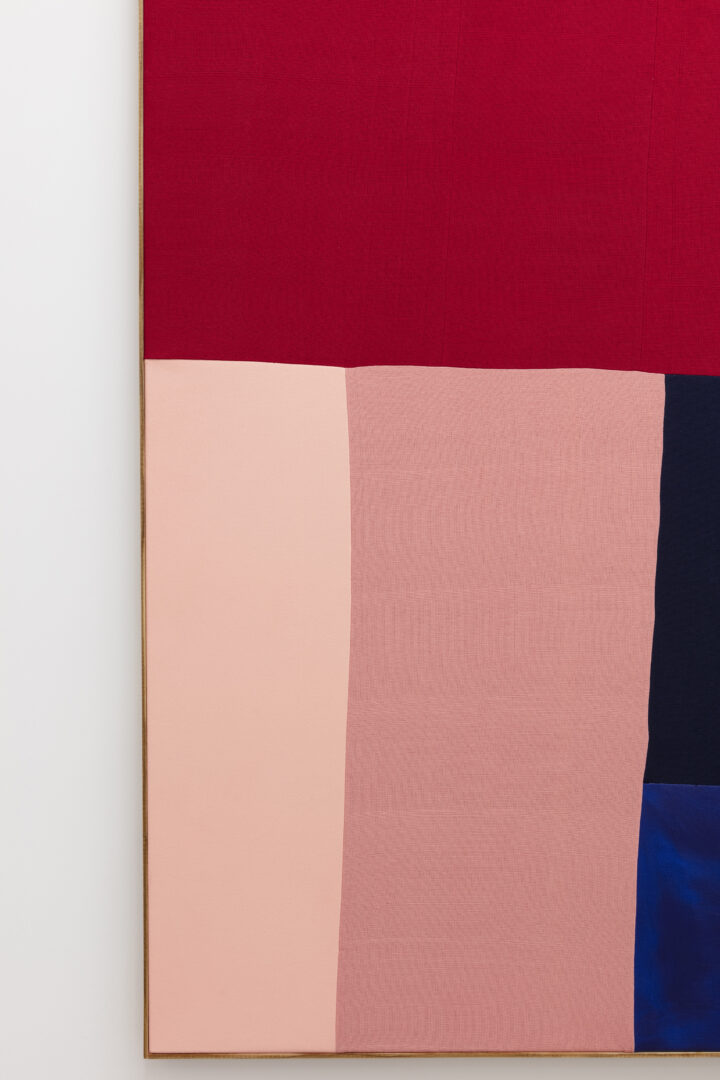 """Exhibition View Ethan Cook Soloshow """"Sets; view on Untitled, 2019 (detail)"""" at GALERIE PHILIPPZOLLINGER, Zurich, 2019 / Photo: Photo: Conradin Frei / Courtesy the artist and GALERIE PHILIPPZOLLINGER"""
