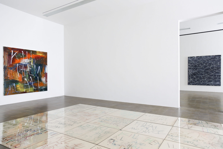 Exhibition View Philippe Vandenberg Soloshow «Kamikaze» at Centre d'art Pasquart, Biel, Bienne / Photo: Lia Wagner / © Philippe Vandenberg Foundation / Courtesy: Estate Philippe Vandenberg and Hauser & Wirth