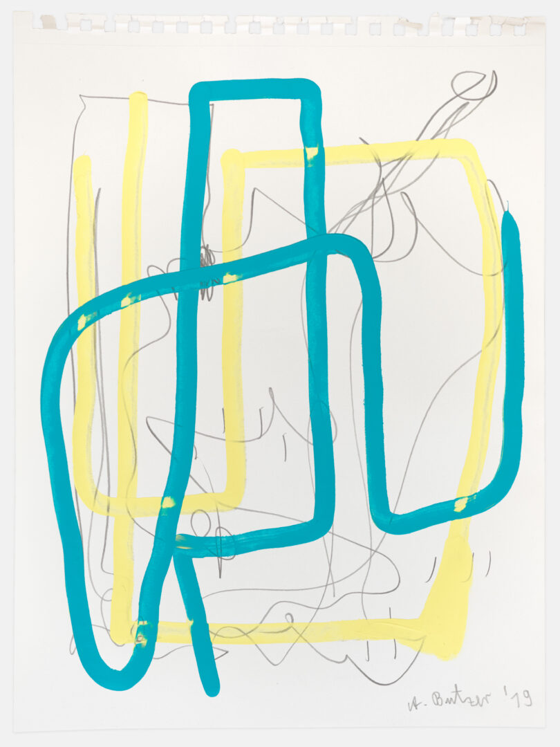 Exhibition View André Butzer Soloshow (view on Untitled, 2019) at Kirchgasse, Steckborn, 2019 / Courtesy: the artist and Kirchgasse