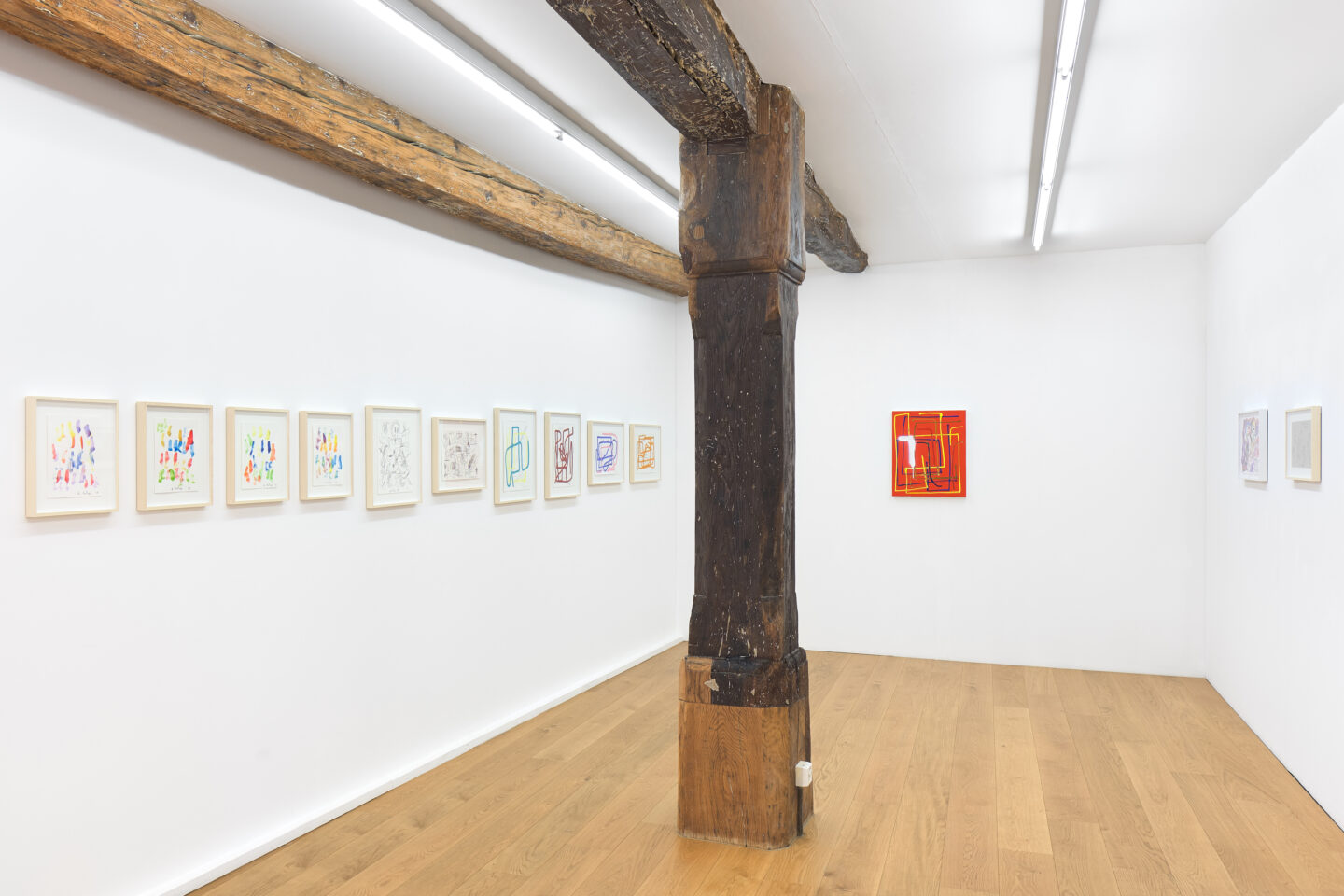 Exhibition View André Butzer Soloshow at Kirchgasse, Steckborn, 2019 / Courtesy: the artist and Kirchgasse