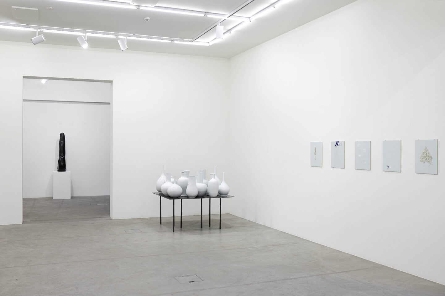 Exhibition View Not Vital Soloshow «Che fasch?» at Galerie Urs Meile, Lucerne, 2019 / Courtesy: the artist and Galerie Urs Meile