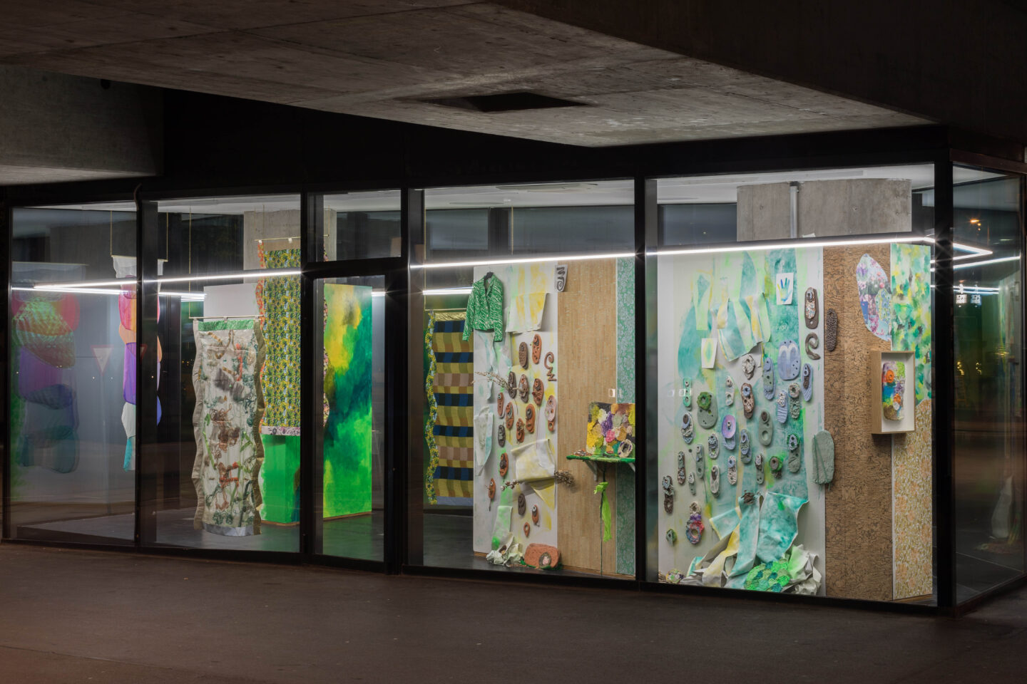 Exhibition View Ludovica Gioscia Soloshow «The Tenderness of Insects» at VITRINE, Basel, 2019 / Photo: Nicolas Gysin / Courtesy: the artist and VITRINE