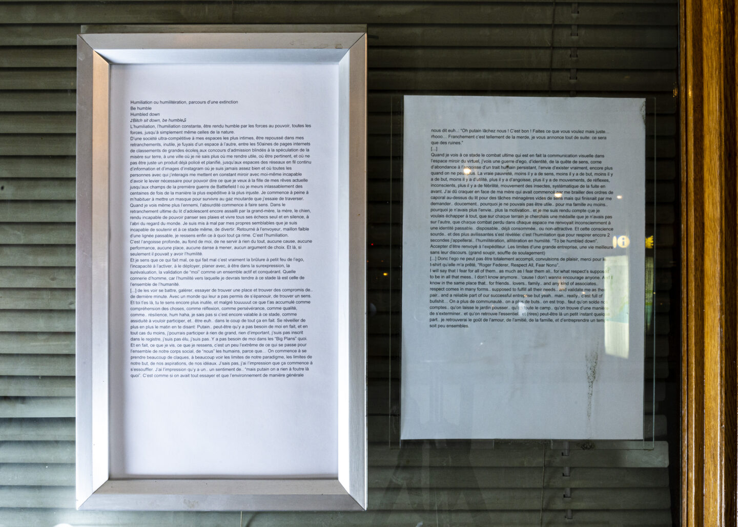 Exhibition View Noémie Degen and Simon Jaton Soloshow «Nodding Out To Rising Mist; Text by Sherian Mohammed Forster» at Tunnel Tunnel, Lausanne, 2019 / Courtesy: the artists