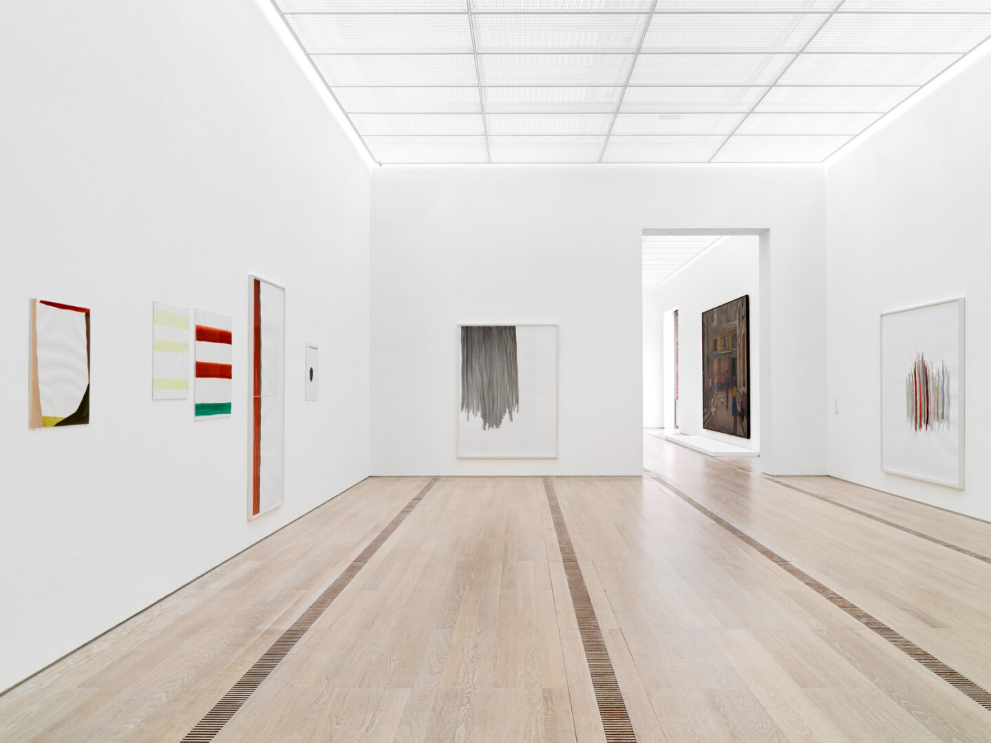 Exhibition View Groupshow «Resonating Spaces; view on Silvia Bächli» at Fondation Beyeler, Riehen, 2019 / Photo: Stefan Altenburger / Courtesy: the artist and Fondation Beyeler