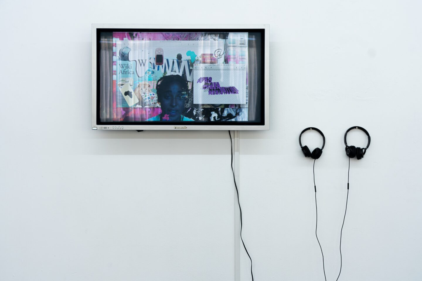 Exhibition View Groupshow «Le Soin des Possibles; view on Tabita Rezaire, Afro Cyber Resistance, 2015» at 1.1, Basel, 2019 / Photo: Jelly Luise / Courtesy: the artist