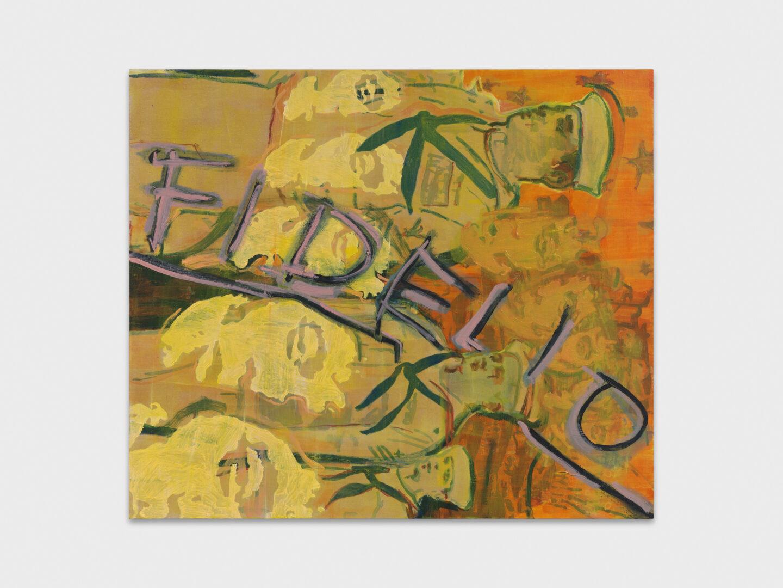 Exhibition View Groupshow «Cruise Kidman Kubrick; view on Andrea Fourchy, Untitled, 2019» at Galerie Maria Bernheim, Zurich, 2019 / Photo: Julien Gremaud / Courtesy: the artist and Galerie Maria Bernheim