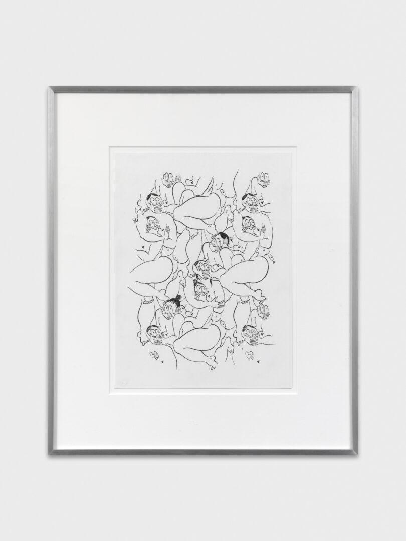 Exhibition View Groupshow «Cruise Kidman Kubrick; view on Ebecho Muslimova, FATEBE A QUIET PATTERN, 2019» at Galerie Maria Bernheim, Zurich, 2019 / Photo: Julien Gremaud / Courtesy: the artist and Galerie Maria Bernheim