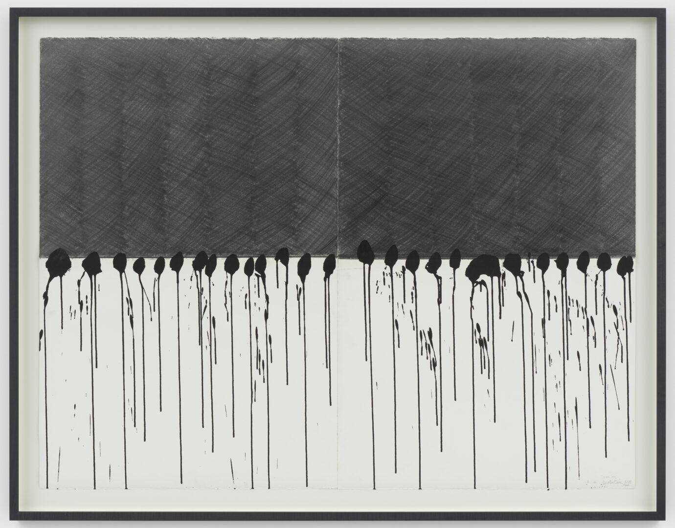 Exhibition View Takesada Matsutani Soloshow «Yohaku; view on Black Rain, 2015» at Hauser & Wirth, Zurich, 2019 / © Takesada Matsutani / Courtesy: the artist and Hauser & Wirth