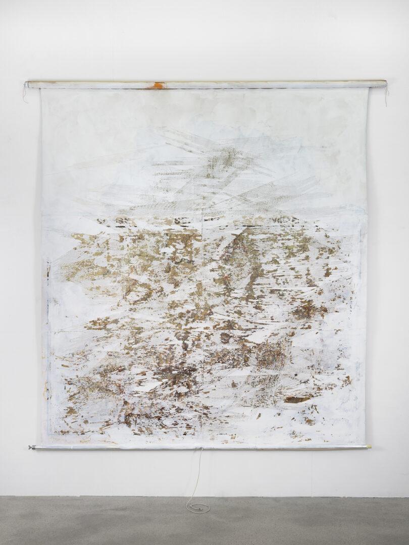 Exhibition View Sophie Bouvier Ausländer Soloshow «Words, Works, Worlds; view on Radar, 2019» at Galerie Heinzer Reszler, Lausanne, 2019 / Photo: Julien Gremaud / Courtesy: the artist and Galerie Heinzer Reszler
