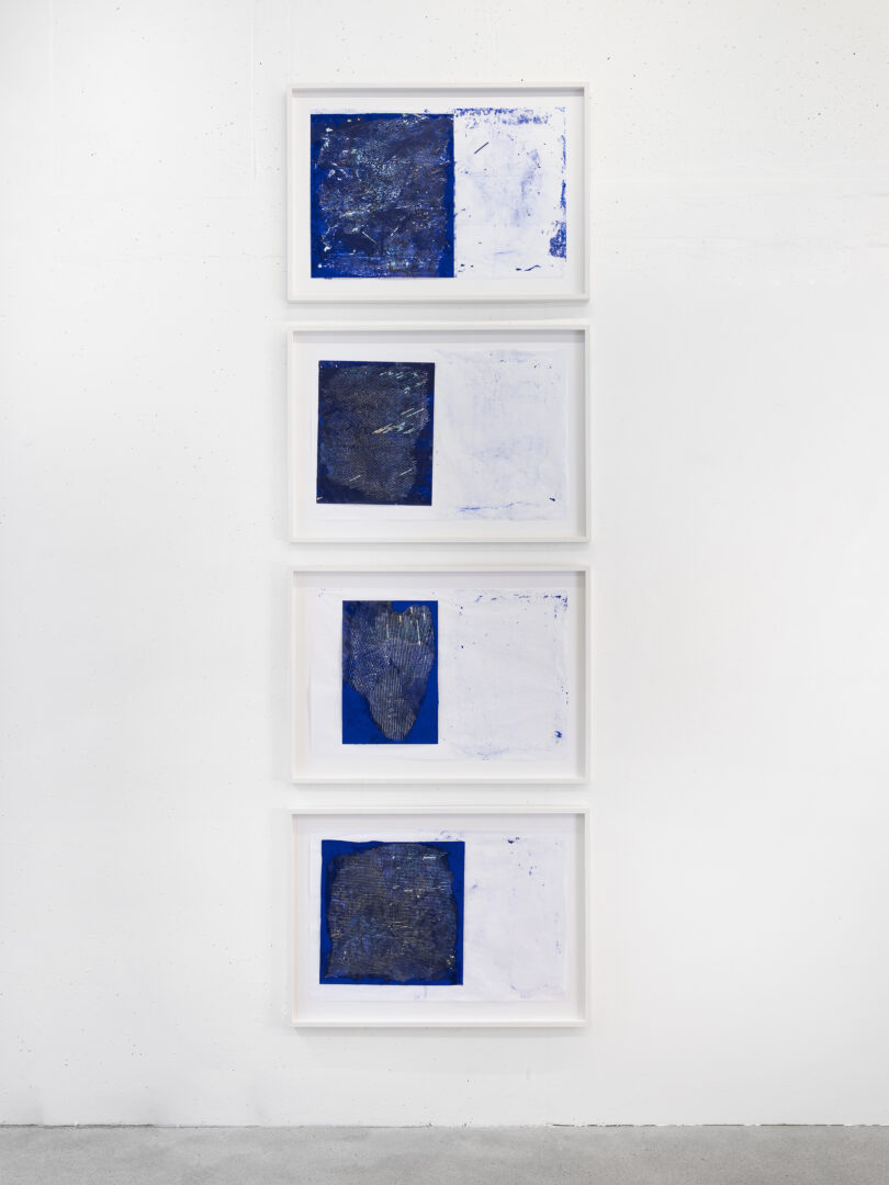 Exhibition View Sophie Bouvier Ausländer Soloshow «Words, Works, Worlds; view on Austerlitz Radar, 2019» at Galerie Heinzer Reszler, Lausanne, 2019 / Photo: Julien Gremaud / Courtesy: the artist and Galerie Heinzer Reszler