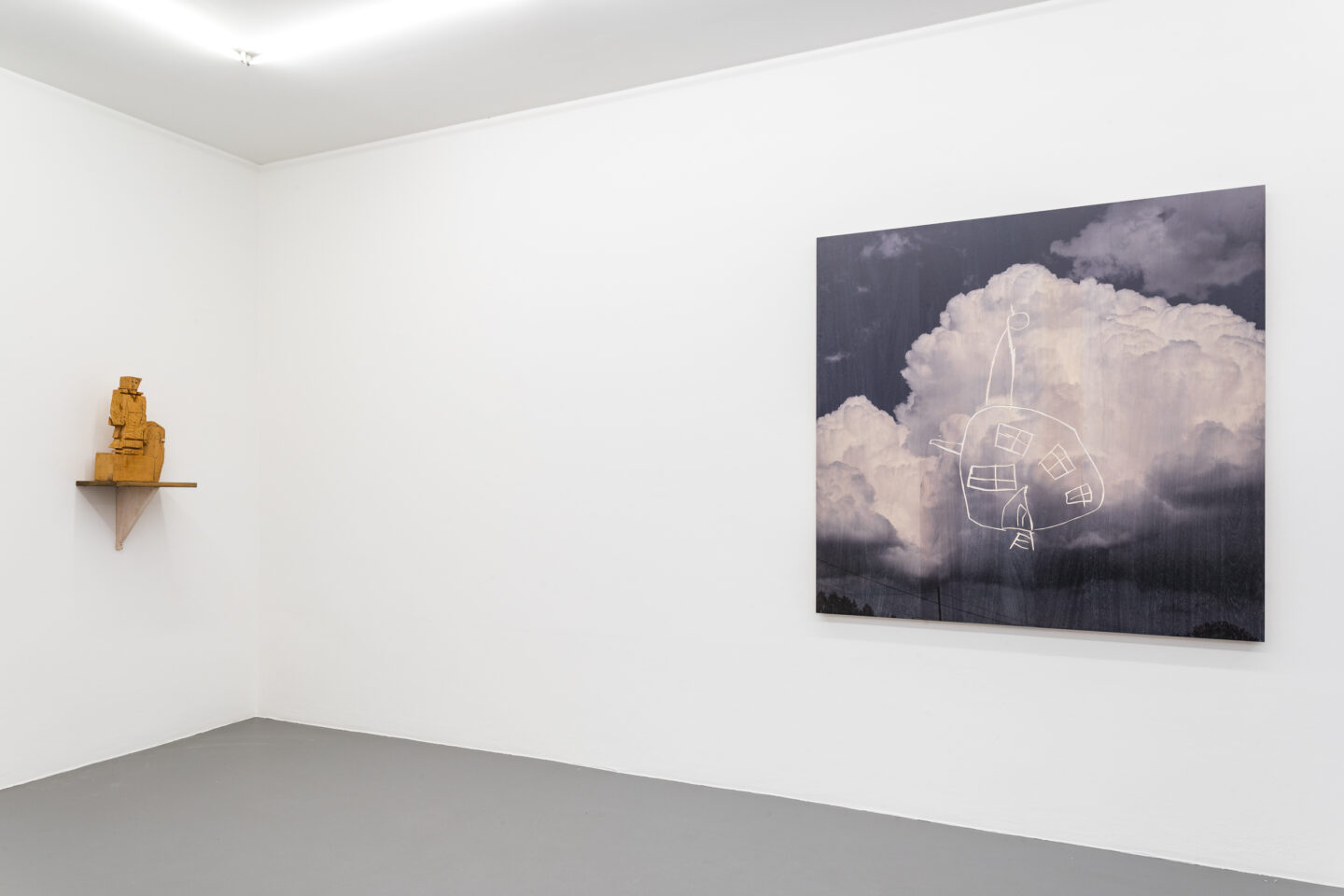 Exhibition View Stephan Balkenhol Soloshow at Mai 36, Zurich, 2019 / Courtesy: the artist and Mai 36