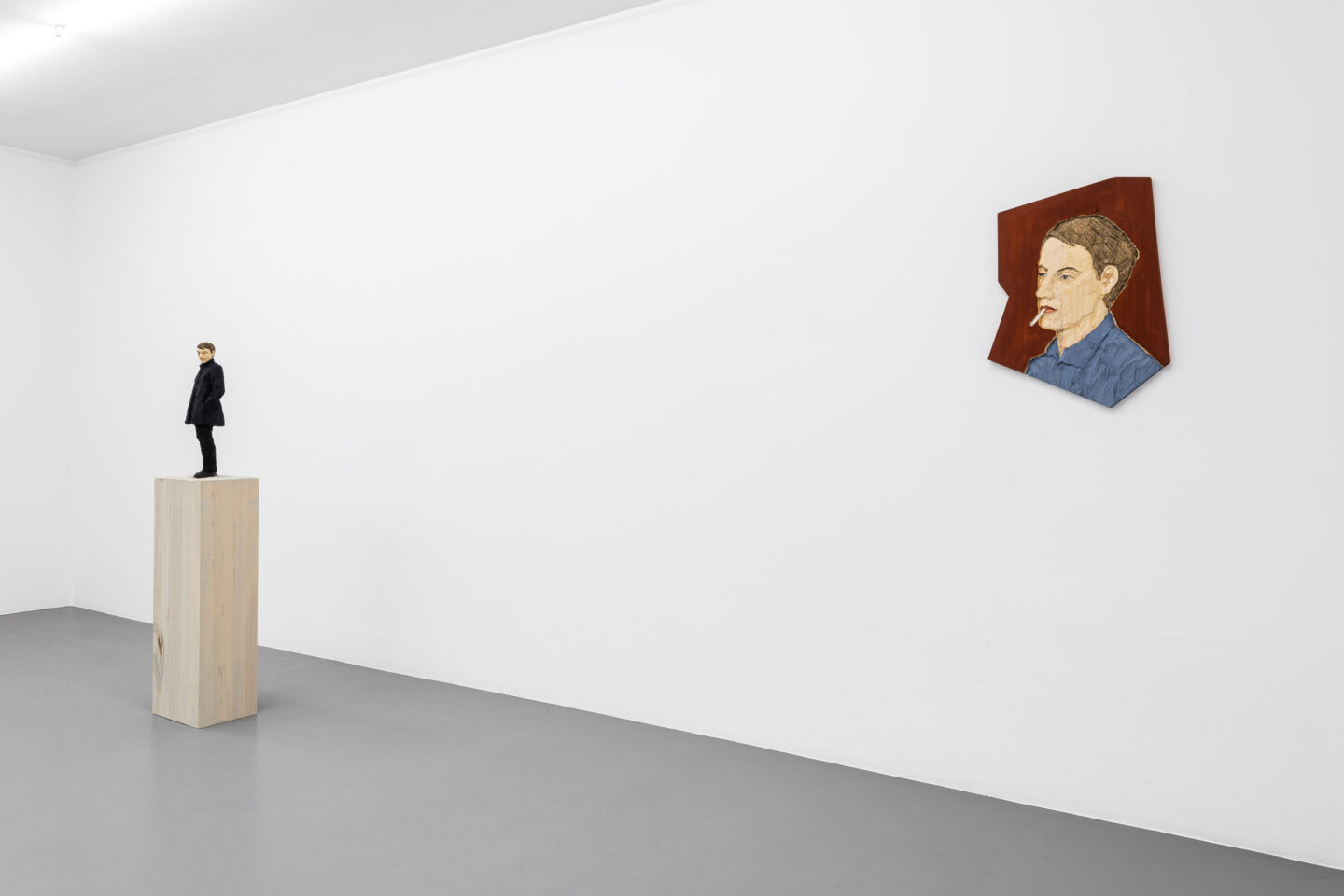 Exhibition View Stephan Balkenhol Soloshow at Mai 36, Zurich, 2019 / Courtesy: the artist and Mai 36-8