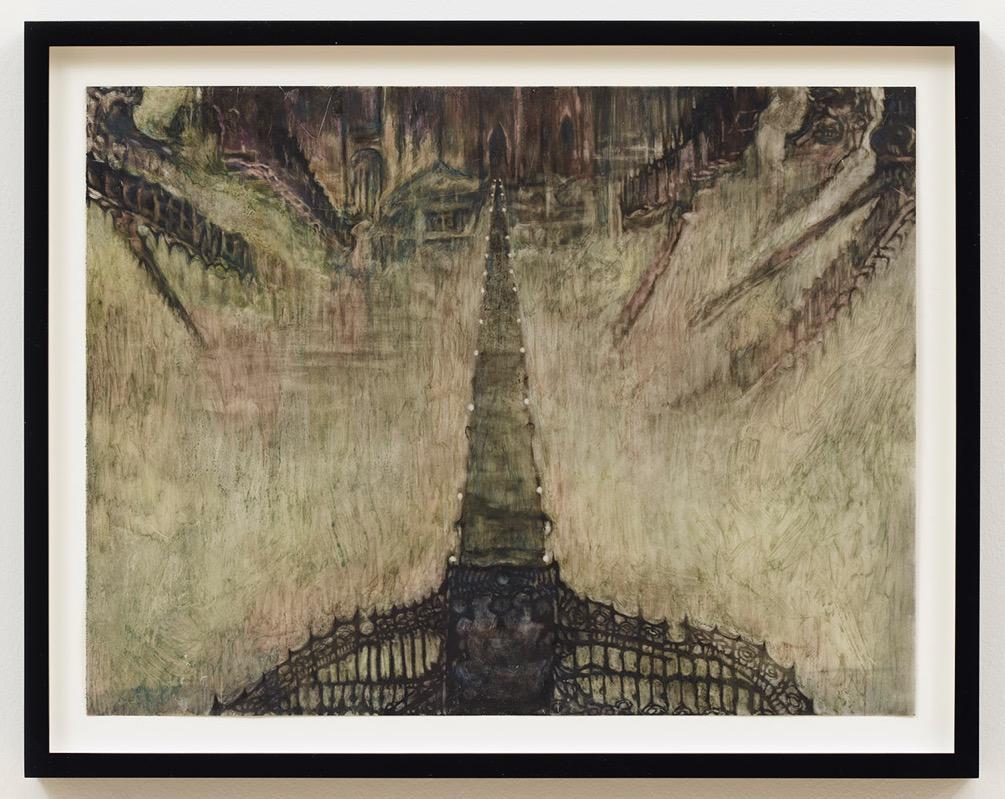 Exhibition View Groupshow «Cruise Kidman Kubrick; view on Stewart Uoo, Runway to the Vampire Castle Spacecraft (after Yoshiaki Kawajiri), 2019» at Galerie Maria Bernheim, Zurich, 2019 / Photo: Julien Gremaud / Courtesy: the artist and Galerie Maria Bernheim