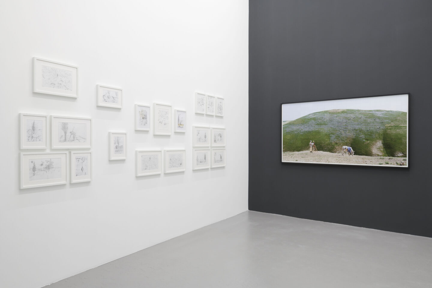 Exhibition View Yuval Yairi Soloshow «Cyphers & Cypresses» at Fabienne Levy, Lausanne, 2019 / Photo: Guillaume Baeriswyl / Courtesy: the artist and Fabienne Levy