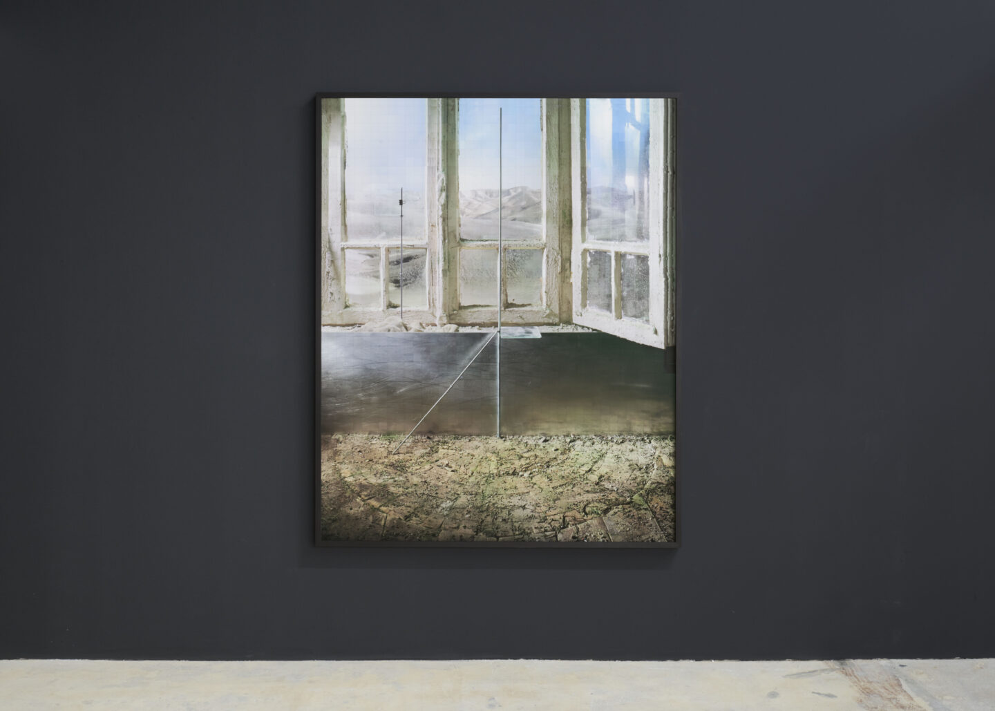 Exhibition View Yuval Yairi Soloshow «Cyphers & Cypresses; view on Objective Space, 2019» at Fabienne Levy, Lausanne, 2019 / Photo: Guillaume Baeriswyl / Courtesy: the artist and Fabienne Levy