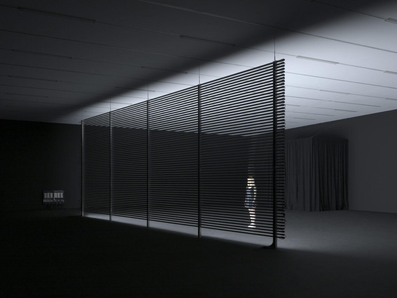 Exbition View Marianna Simnett Soloshow «LAB RATS; view on Faint with Light, 2016» at Kunsthalle Zürich, Zurich, 2019 / Photo: Annik Wetter / Courtesy: the artist and Kunsthalle Zürich