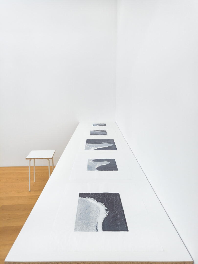 Exhibition View Sarah Lehnerer Soloshow «I could turn myself into it instead of away from it; view on I could turn myself into it (tongues), #1-11, 2019» at Kichgasse, Steckborn, 2019 / Photo: Alex Kern / Courtesy: the artist and Kichgasse