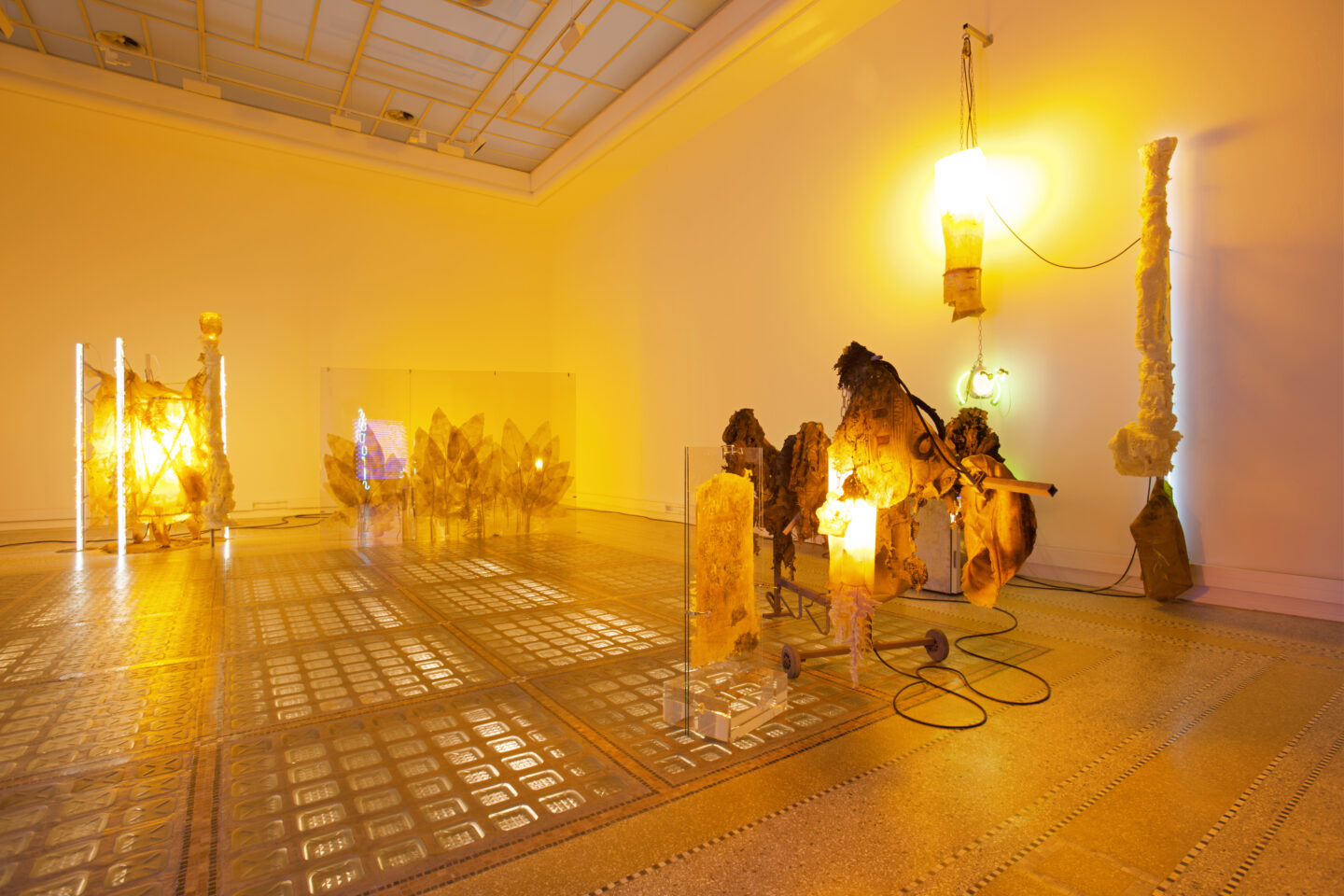 Exhibition View Chloé Delarue Soloshow «TAFAA - ACID RAVE» at MBAC, La Chaux-de-Fonds, 2019 / Photo: Florimond Dupont / Courtesy: the artist and MBAC