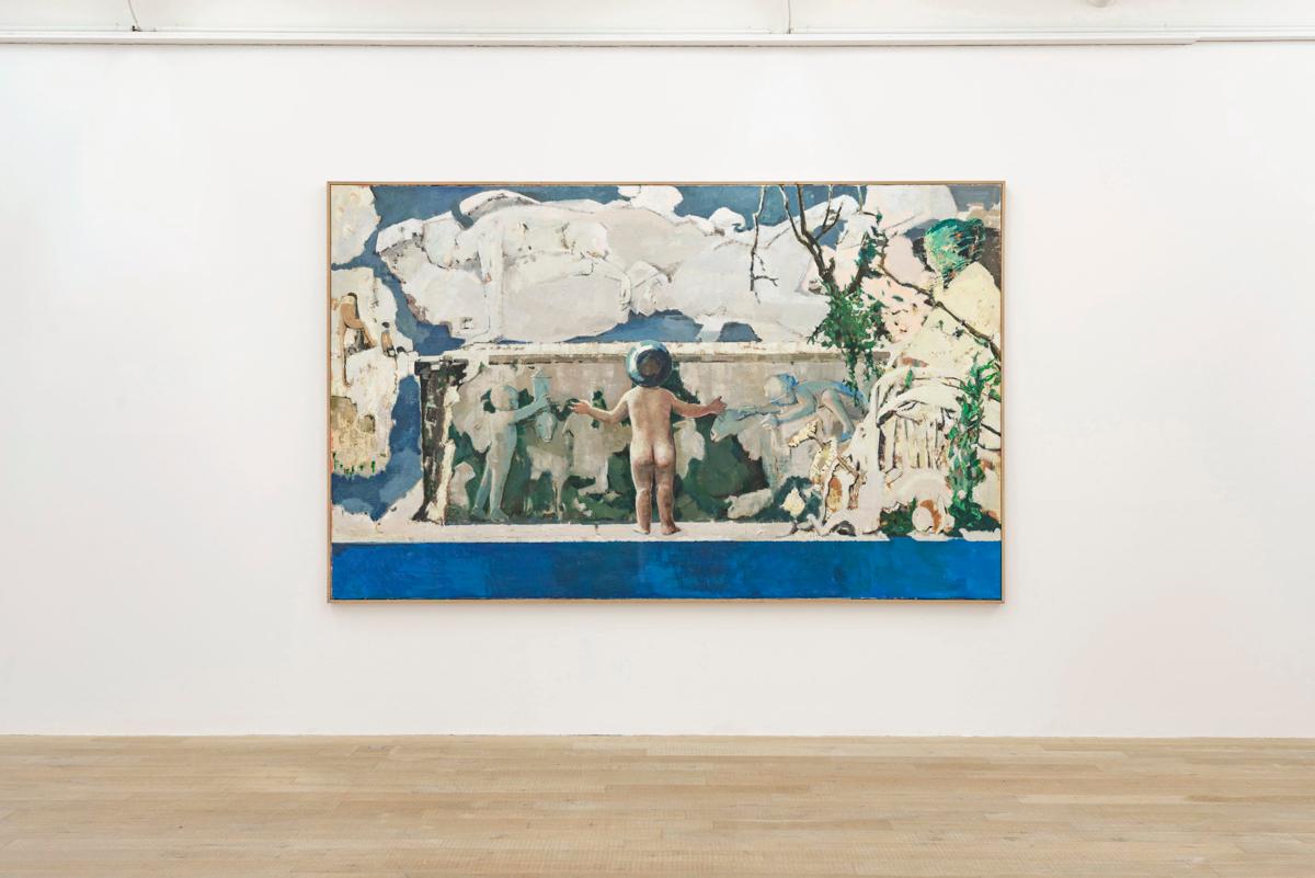 Exhibition View Marc-Antoine Fehr Soloshow «Les Adieux; view on Une ancienne tombe, 2019» at Galerie Peter Kilchmann, Zurich, 2019 / Photo: Sebastian Schaub / Courtesy: the artist and Galerie Peter Kilchmann