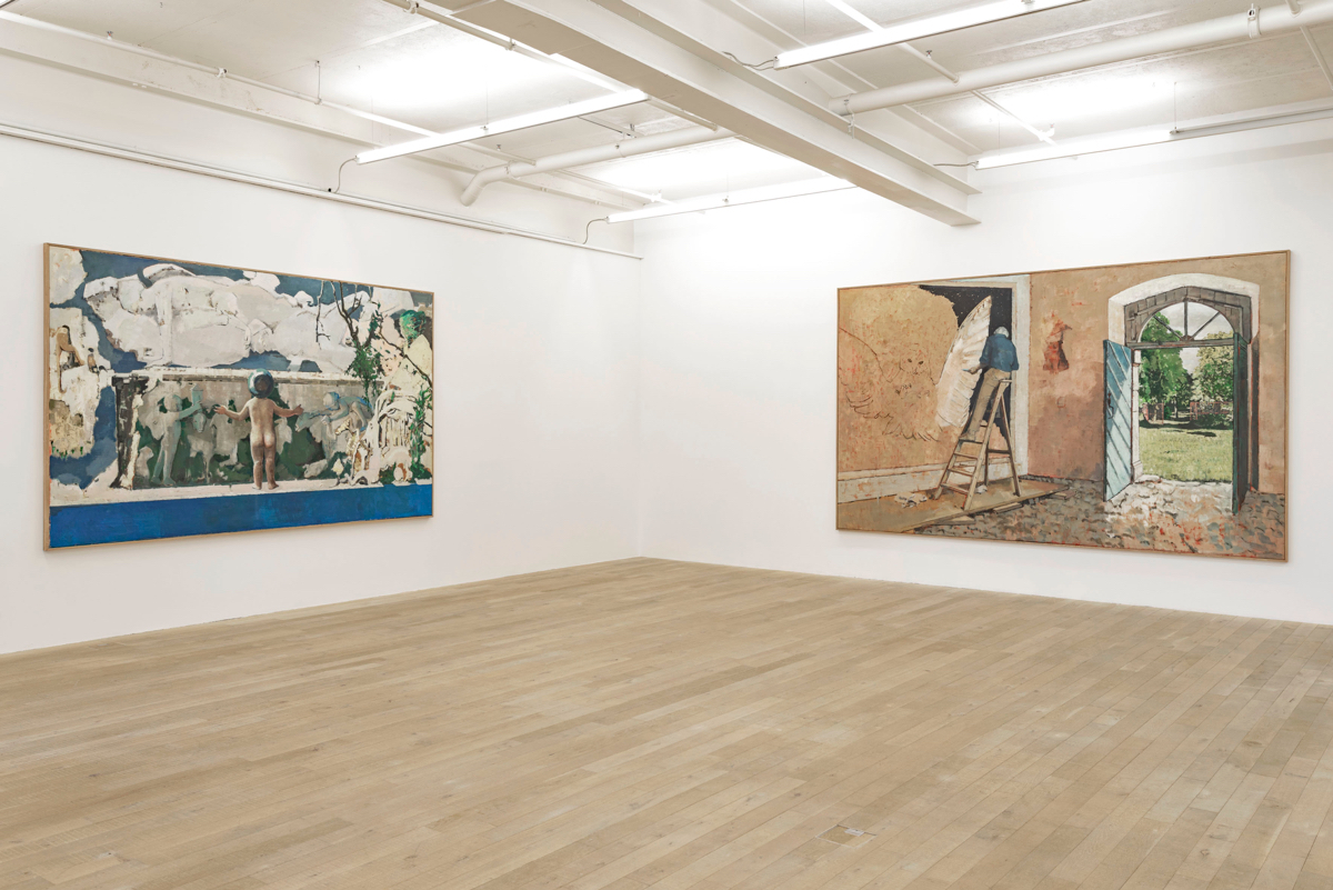 Exhibition View Marc-Antoine Fehr Soloshow «Les Adieux» at Galerie Peter Kilchmann, Zurich, 2019 / Photo: Sebastian Schaub / Courtesy: the artist and Galerie Peter Kilchmann