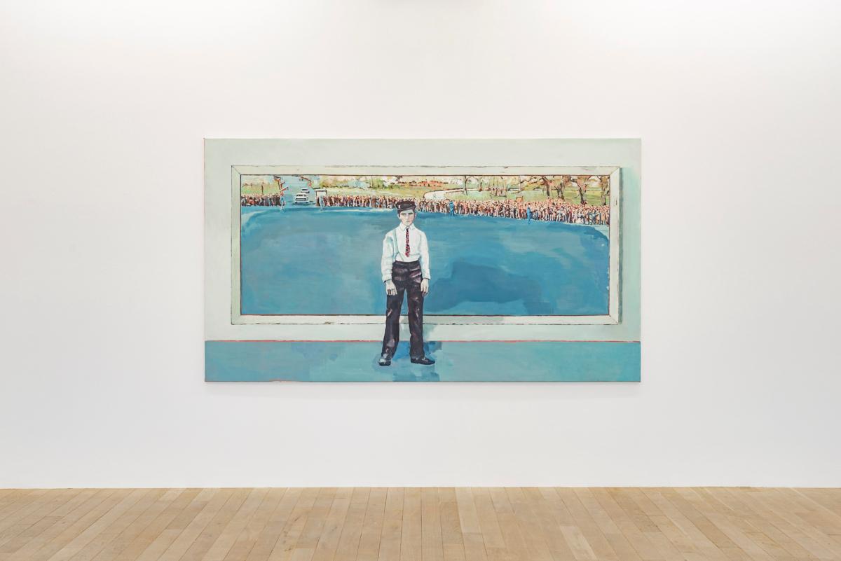 Exhibition View Marc-Antoine Fehr Soloshow «Les Adieux; Une histoire américaine, 2018» at Galerie Peter Kilchmann, Zurich, 2019 / Photo: Sebastian Schaub / Courtesy: the artist and Galerie Peter Kilchmann