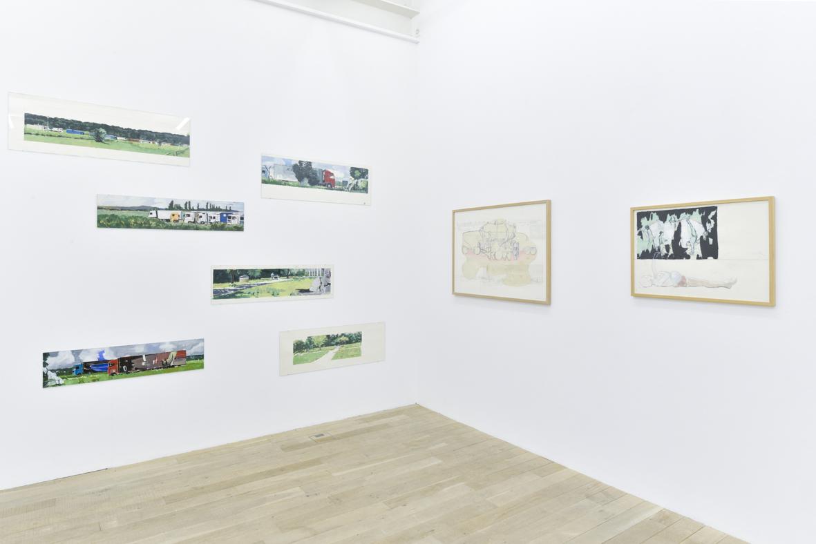 Exhibition View Marc-Antoine Fehr Soloshow «Les Adieux» at Galerie Peter Kilchmann, Zurich, 2019 / Photo: Sebastian Schaub / Courtesy: the artist and Galerie Peter Kilchmann