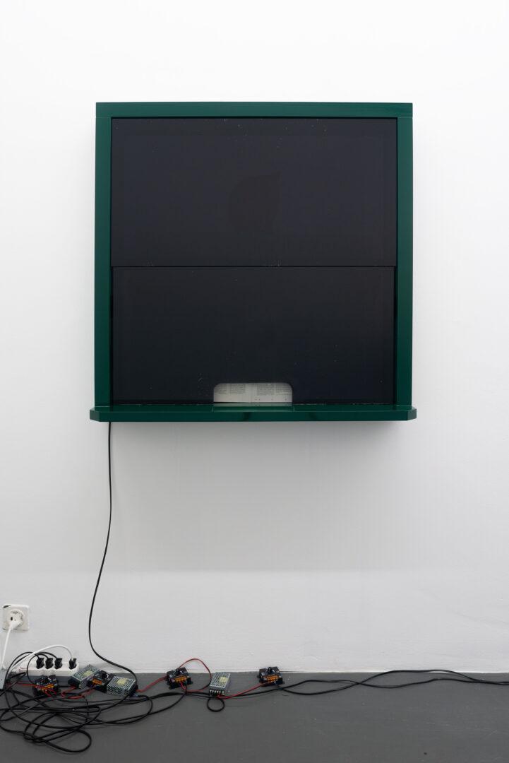 Exhibition View Daniele Milvio «Die besten Jahre unseres Lebens; view on L'Amante di George Sand, 2019» at Weiss Falk, Basel, 2019 / Photo: Flavio Karrer / Courtesy: the artist and Weiss Falk