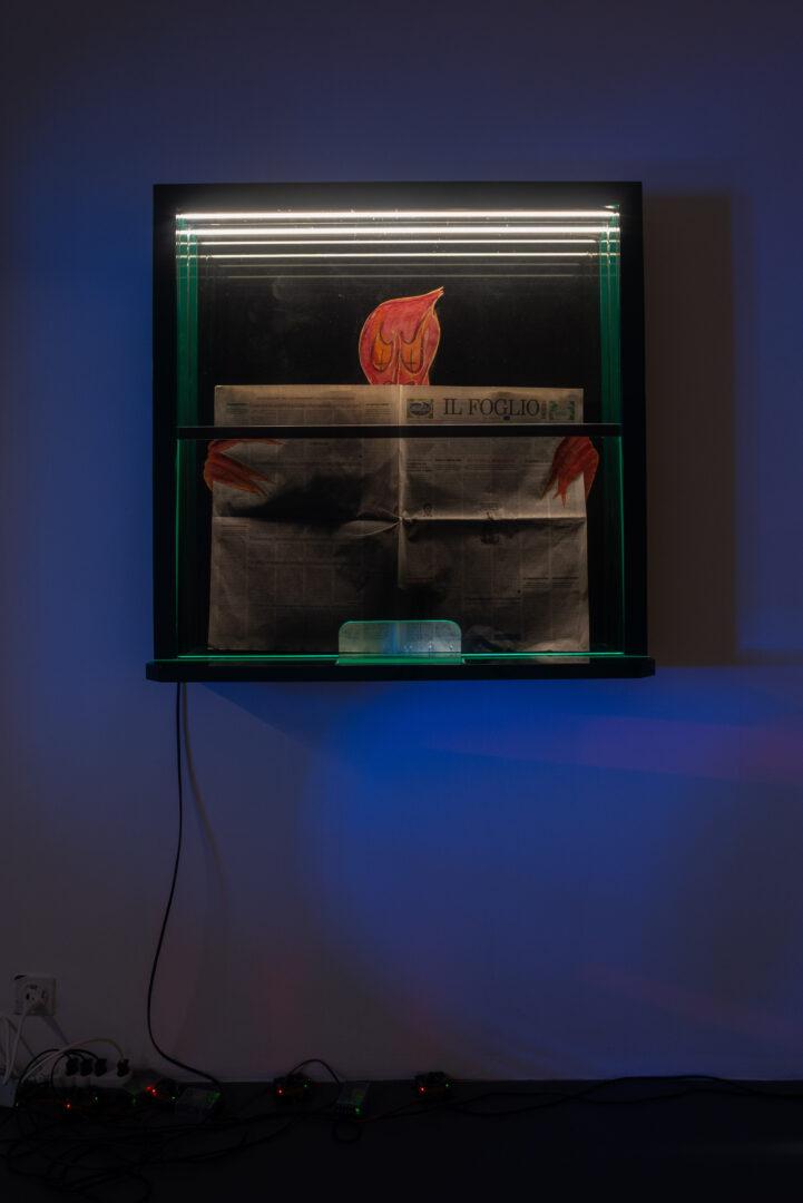Exhibition View Daniele Milvio Soloshow «Die besten Jahre unseres Lebens; view on L'Amante di George Sand, 2019» at Weiss Falk, Basel, 2019 / Photo: Flavio Karrer / Courtesy: the artist and Weiss Falk