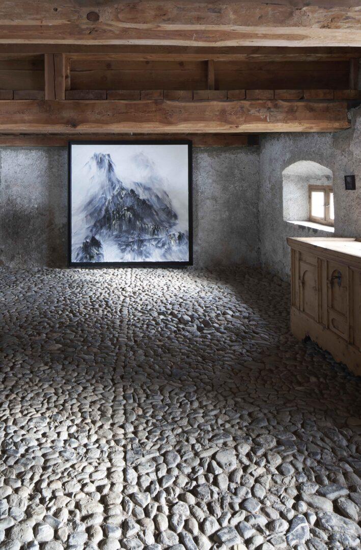 Exhibition View Conrad Jon Godly Soloshow «Through the Years» at Stalla Madulain, 2019 / Photo: Franz Rindlisbacher / Courtesy: the artist and Stalla Madulain