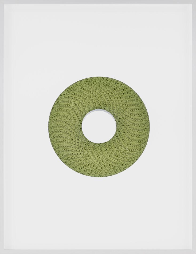 Exhibition View Groupshow «La metamorphose de l'art imprime; view on Philippe Decrauzat, Positive copy (Replica), 2019, (Edition of 22)» at VFO, Zurich, 2019 / Photo: Bernhard Strauss / Courtesy: the artist and VFO, Zurich