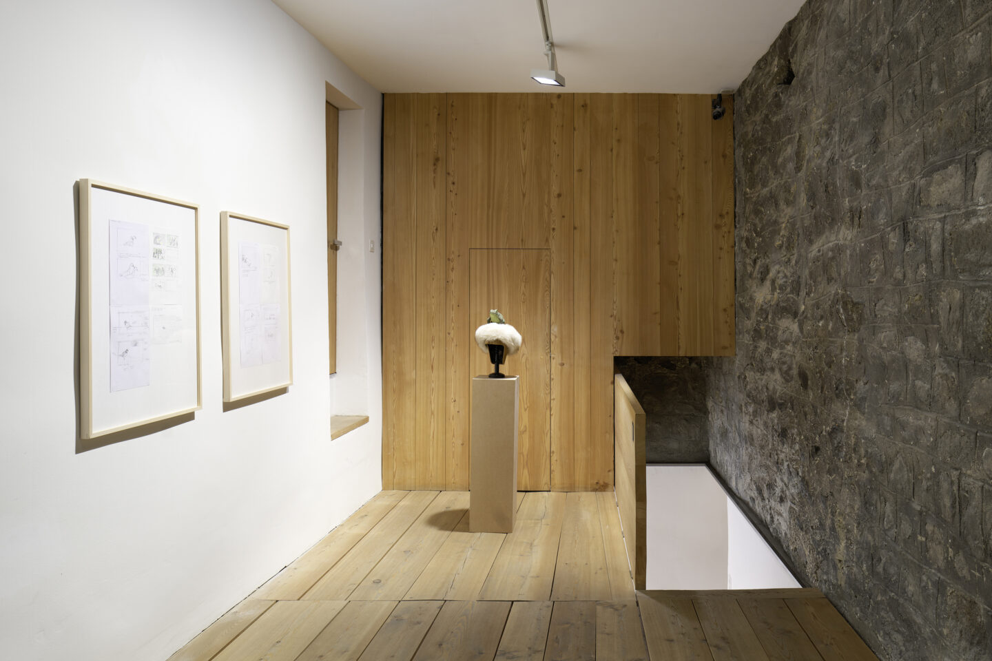 Exhibition View Groupshow «Absolutely Tschudi» at Galerie Tschudi, Zuoz, 2019 / Photo: Ralph Feiner, Malans / Courtesy: the artists and Galerie Tschudi, Zuoz