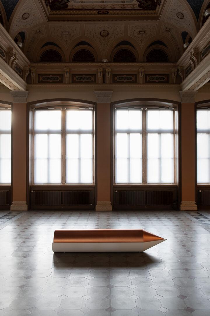 Exhibition View Iman Issa Soloshow «Surrogates; view on Heritage Studies #33, 2019» at Kunstmuseum St. Gallen, St. Gallen, 2019 / Photo: Sebastian Stadler / Courtesy: the artist; Rodeo, London/Piraeus und carlier   gebauer Berlin/Madrid
