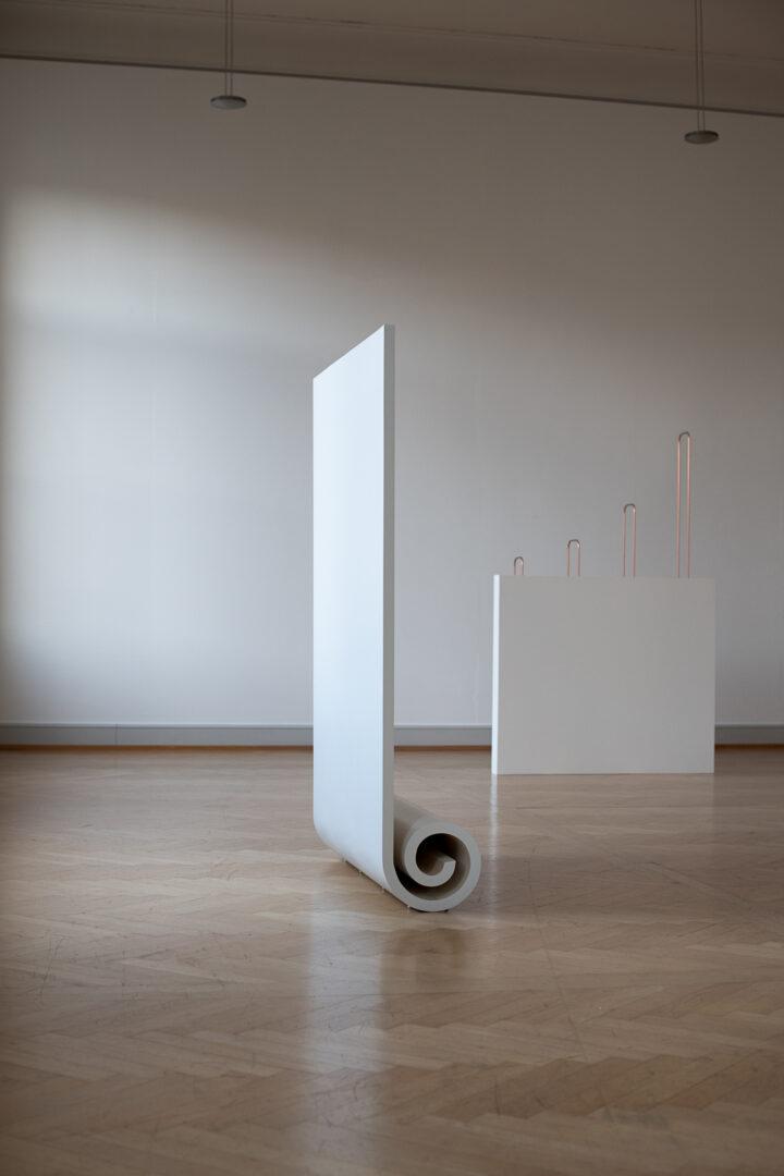 Exhibition View Iman Issa Soloshow «Surrogates» at Kunstmuseum St. Gallen, St. Gallen, 2019 / Photo: Sebastian Stadler