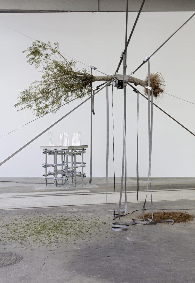 Exhibition View Siobhán Hapaska Soloshow at Lokremise, St. Gallen, 2020, presented by Kunstmuseum St. Gallen / Photo: Stefan Rohner / Courtesy: the artist and Kunstmuseum St. Gallen