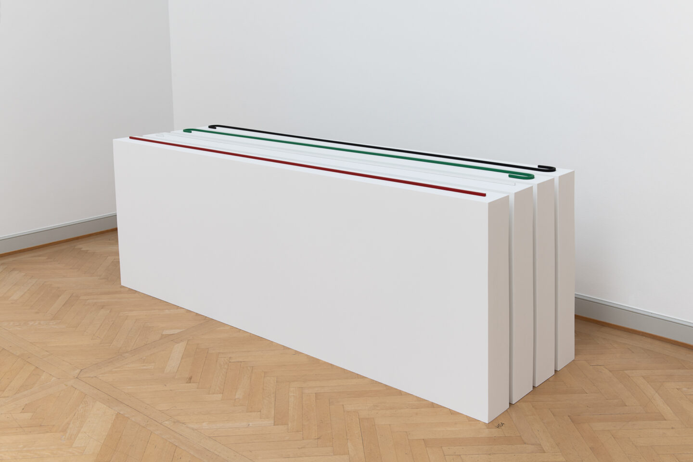 Exhibition View Iman Issa Soloshow «Surrogates; view on Heritage Studies #4, 2015» at Kunstmuseum St. Gallen, St. Gallen, 2019 / Photo: Sebastian Stadler / Courtesy: the artist; Rodeo, London/Piraeus und carlier | gebauer Berlin/Madrid