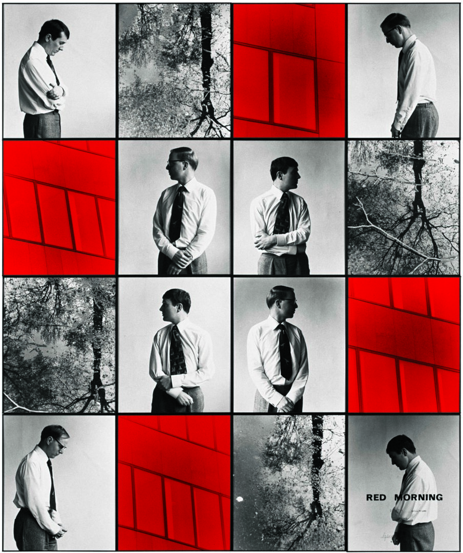 Exhibition View Gilbert & George «THE GREAT EXHIBITION, 1971–2016; view on RED MORNING DEATH, 1977» at Kunsthalle Zürich & Luma Westbau, Zurich, 2020 / © Gilbert & George / Courtesy: the artists, Kunsthalle Zürich & Luma Westbau