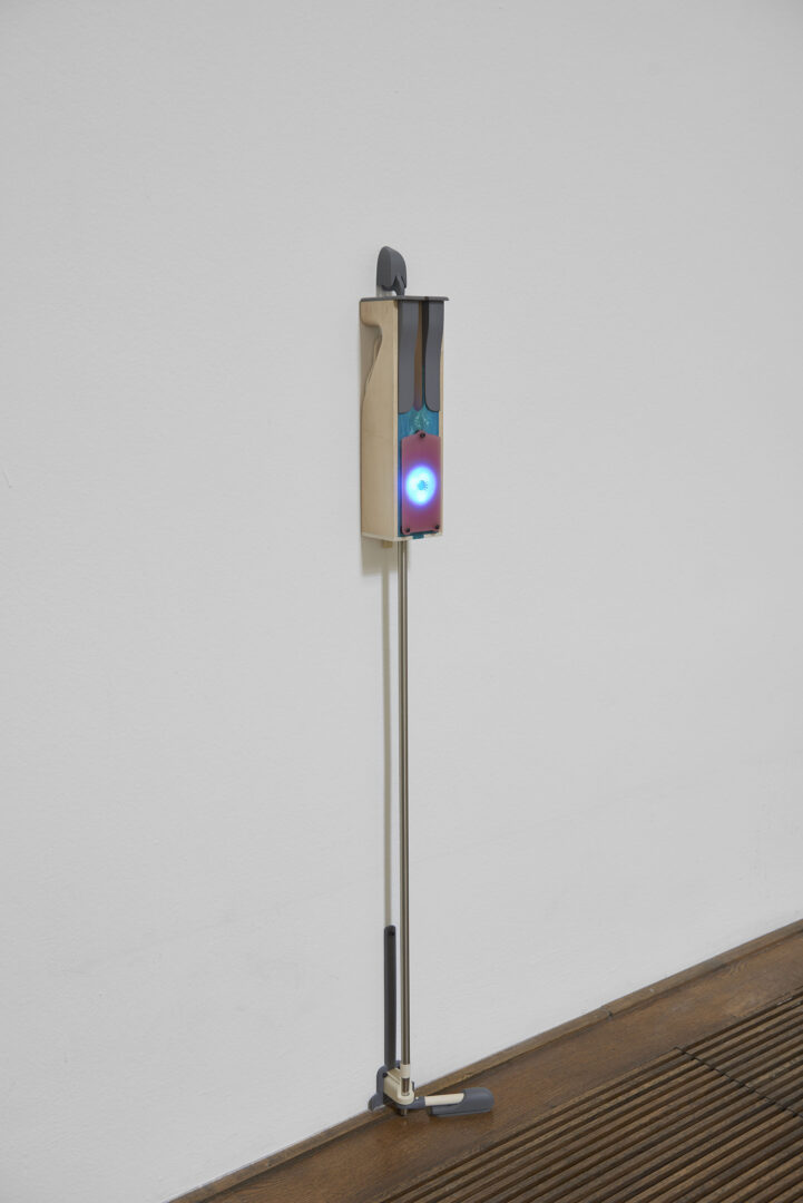 Exhibition View Camille Blatrix Soloshow «Standby Mice Station; view on Mouse, 2020» at Kunthalle Basel, Basel, 2020 / Photo: Philipp Hänger / Courtesy: the artist; Galerie Balice Hertling, Paris, and Andrew Kreps Gallery, New York