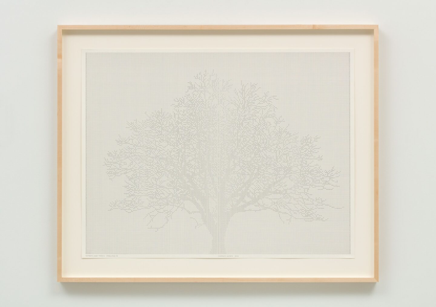 Exhibition View Charles Gaines Soloshow «Drawings; view on Numbers and Trees: Drawing 13, 2017» at Hauser & Wirth, St. Moritz, 2020 / Photo: Fredrik Nilsen / © Charles Gaines / Courtesy: the artist and Hauser & Wirth