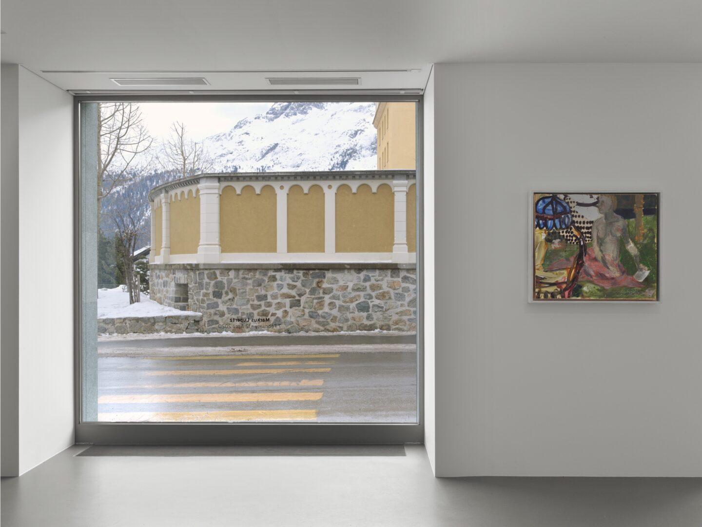Exhibition View Markus Lüpertz Soloshow (view on Ohne Titel, 2016) at Vito Schnabel Gallery, St. Moritz, 2020 / ©️ VG Bild-Kunst Bonn, 2020 / Photo: Stefan Altenburger / Courtesy: the artist and Vito Schnabel Gallery