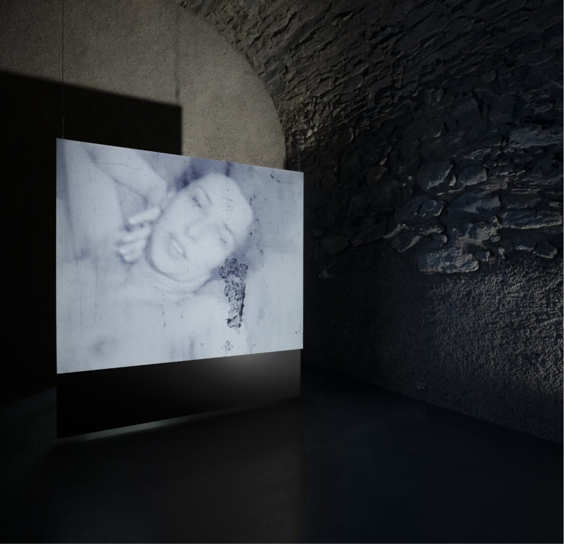 Exhibition View Groupshow «Up to and Including Limits: After Carolee Schneemann; view on Carolee Schneemann, Fuses (1964–1967)» at Muzeum Susch, Susch, 2019-2020 / Photo: Maja Wirkus / Courtesy: the artist and Muzeum Susch