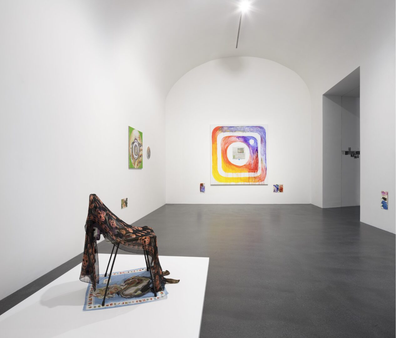 Exhibition View Groupshow «Up to and Including Limits: After Carolee Schneemann; view on Elke Silvia Krystufek, installation view, all works 2019» at Muzeum Susch, Susch, 2019-2020 / Photo: Maja Wirkus / Courtesy: the artist and Muzeum Susch