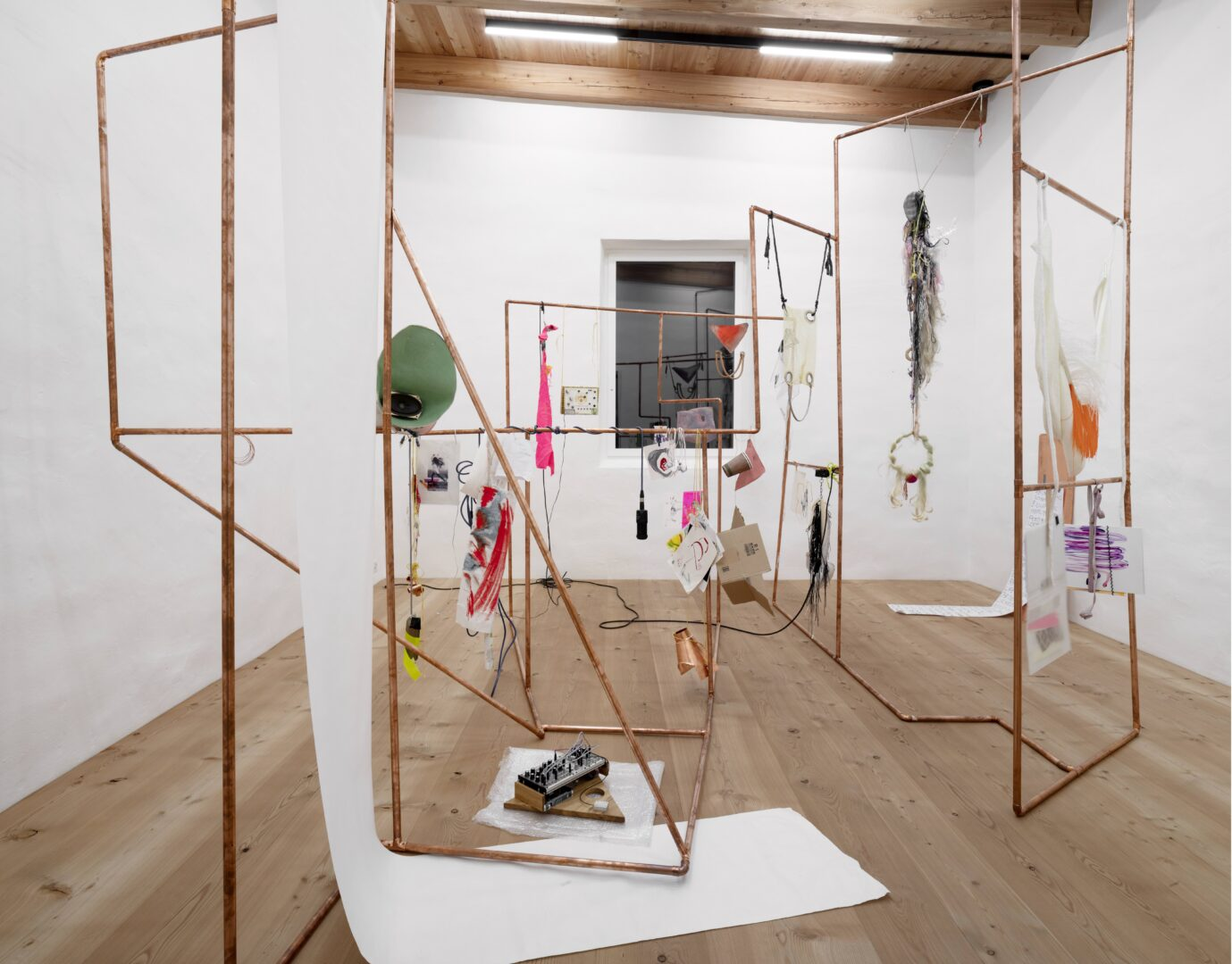 Exhibition View Groupshow «Up to and Including Limits: After Carolee Schneemann; view on Chicks on Speed, Noise Bodies, 2019» at Muzeum Susch, Susch, 2019-2020 / Photo: Maja Wirkus / Courtesy: the artist and Muzeum Susch