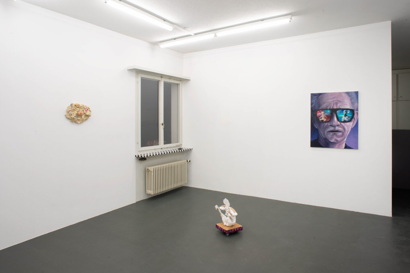 Exhibition View Groupshow «TGC – curated by XYZ Collective» at Weiss Falk, Basel, 2020 / Photo: Flavio Karrer / Courtesy: the artists and Weiss Falk